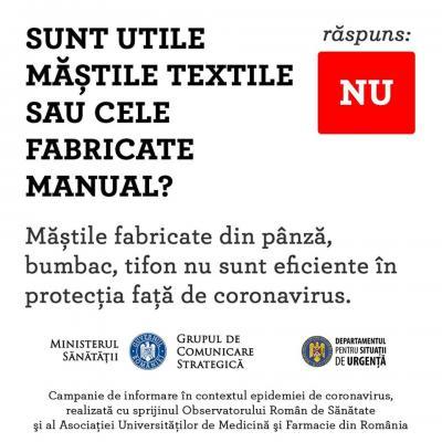 Sunt utile mastile textile sau cele fabricate manual?