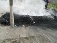 Cauciucuri incendiate Lasatul Secului