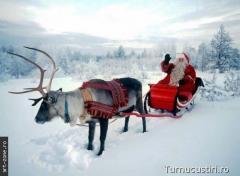 Moş  Crăciun cu săniuţa